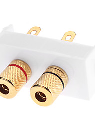 baratos -Qualidade Banana Binding Post Wall Plate alta com alta qualidade banhado a ouro para Falantes