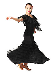 cheap -Ballroom Dance Outfits Women's Training Tulle Viscose Natural