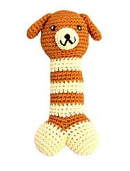 Недорогие -Экологически чистым Cute Dog Pattern крючком хлопчатобумажная нить Писк игрушки для собак (длина: 18 см)