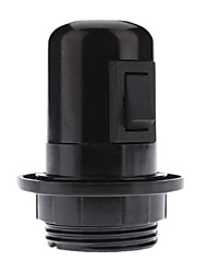 cheap -E27 Black color Base Bulb Socket Lamp Holder with Switch (4A,250V)