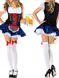cheap -Bavarian Oktoberfest Cosplay Costume Party Costume Women's Halloween Carnival New Year Festival / Holiday Halloween Costumes Lace
