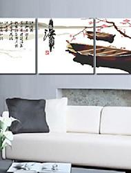 abordables -Meian algodón sin terminar bricolaje recuerde jiangnan 11CT / pulgada puntada-juego de 3 bordada paño tamaño: 51 * 51cm * 3