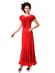 cheap -Performance Dancewear Viscose and Lace Modern Dance Outfit Dress For Ladies(More Colors)