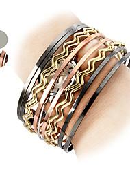 Femme Bracelet de Montre Quartz Bande Bohème Bracelet Elégantes Argent Bayadère Argent Doré Arc-en-ciel