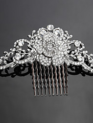 cheap -Crystal Fabric Alloy Tiaras Hair Combs 1 Wedding Special Occasion Party / Evening Headpiece