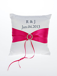 Personalized Ring Pillow With Sash Coral Wedding Wedding Ceremony