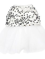 Cat Dog Dress Dog Clothes Wedding Sequins White Costume For Pets
