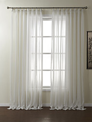 Rod Pocket Grommet Top Tab Top Double Pleat Two Panels Curtain Jacquard Polyester Material Sheer Curtains Shades Home Decoration