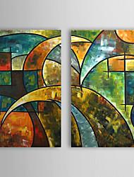 Ručně malované Abstraktní Dva panely Plátno Hang-malované olejomalba For Home dekorace