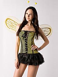 Недорогие -Cute Little Bee Желтые и черные полосы костюм полиэстер женщин (2 шт)
