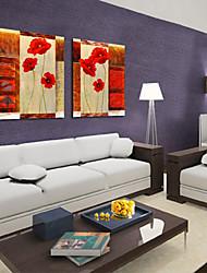 cheap -Stretched Canvas Print Canvas Set Botanical Two Panels Horizontal Print Wall Decor Home Decoration