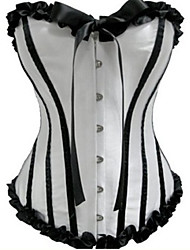 cheap -Corset Classic Lolita Dress Black/White Lolita Accessories Striped Patchwork Satin