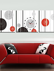 cheap -Modern Style Geometry Wall Clock in Canvas 3pcs Wall Clocks Decoration