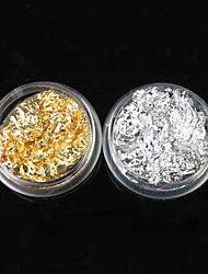 economico -1 pcs Glitter Kit per unghie artistiche Gioielli per unghie manicure Manicure pedicure Quotidiano Astratto / Punk / Matrimonio / Metallo