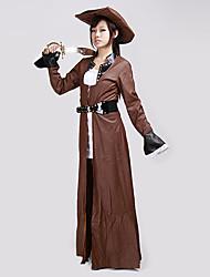 Недорогие -Жесткая женщин Пиратские Хеллоуин костюм (3 шт)