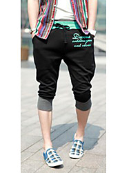 cheap -Men's Cute Style Shorts Sweatpants Pants Pants - Leopard Letter, Print