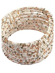 abordables -Estilo bohemio de la aleación con la pulsera de los granos de las mujeres (más colores)