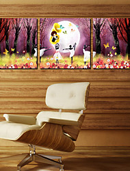 cheap -Stretched Canvas Print Canvas Set People Three Panels Horizontal Print Wall Decor For Home Decoration