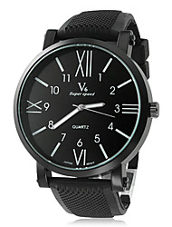 V6® Men's Watch Dress Watch Roman Numerals Dial Silicone Strap Cool Watch Unique Watch Fashion Watch