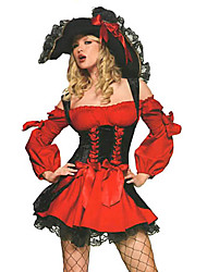 Pirate Cosplay Costumes Party Costume Female Halloween Carnival New Year Festival/Holiday Halloween Costumes Red Patchwork