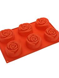 abordables -molde de silicona en forma de rosa pastel de galleta (color al azar)