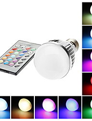 cheap -E27 5W 110mm Long RGB Color-Changing Light LED Ball Bulb with Remote Control(85-265V)