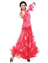 abordables -Danse de Salon Tenue Femme Entraînement Mousseline Taille moyenne