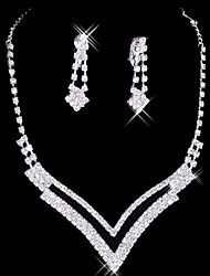 cheap -Women's Rhinestone Jewelry Set Include Earrings Necklaces - Alloy For Wedding Party Special Occasion Anniversary Birthday Engagement Gift