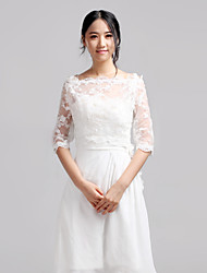 Wedding  Wraps Coats/Jackets Half-Sleeve Lace Ivory Wedding / Party/Evening / Casual T-shirt Pullover