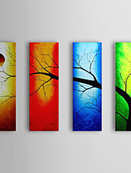 Hand-Painted Landscape Four Panels Canvas Oil Painting For Home Decoration