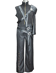 Ispirato da Final Fantasy Cloud Strife Video gioco Costumi Cosplay Abiti Cosplay Collage Nero Cappotto / Pantaloni / Armatura / Accessori
