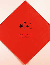 cheap -Personalized Wedding Napkins Stars(More Colors)-Set of 100 Wedding Reception