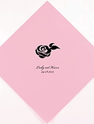 Personalized Wedding Napkins Rose(More Colors)-Set of 100