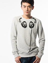 Fitspace Mænds rund hals Floral Sweater Gray