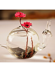cheap -Table Centerpieces Snail Shaped Glass Vase  Table Deocrations