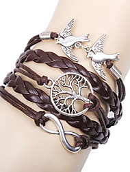 cheap -Women's Charm Bracelet Leather Bracelet Wrap Bracelet Basic Friendship Multi Layer Handmade Personalized Costume Jewelry Leather Love