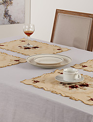 cheap -Rectangular Floral Placemat , Polyester Material Coffee Tea & Drinkware