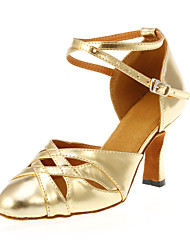 "Scarpe da ballo - Disponibile ""su misura"" - Donna - Moderno - Customized Heel - Eco-pelle - Oro"
