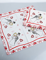 Cartoon Groom&Bridal Napkins