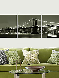 Trasferimenti su tela Art Landscape Ctiy Ponte Set di 3