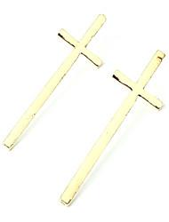 abordables -Pendientes cortos Legierung Joyería de la declaración Moda Forma de Cruz Dorado Negro Plata Joyas Diario