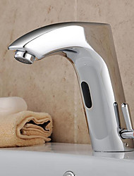 cheap -Bathroom Sink Faucet Brass finish with Automatic Sensor (Hot and Cold)