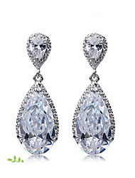 cheap -Women's Cubic Zirconia Earrings - Fashion Clear For Daily
