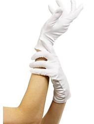 Недорогие -Косплей Перчатки Взрослые Жен. Рождество Хэллоуин Карнавал Фестиваль / праздник Терилен Белый Мужской Карнавальные костюмы Однотонный
