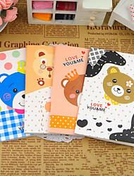 Cartoon Bear Series Small Notebook(Random Color)