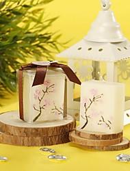 abordables -Tema Floral Los favores de la vela-4 Pedazo / Set Velas Sin personalizar Blanco