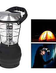 cheap -36-LED White Light LED Hand Crank Solar Lantern Camping Lamp with Charger
