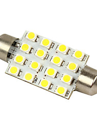 cheap -Merdia White 16-SMD 12V Festoon Dome Light LED Bulbs 211-2 212-2 569 578 - White (2pcs)-LEDD002B16