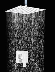 Недорогие -Современный Только душ Дождевая лейка Керамический клапан Два отверстия Одной ручкой Два отверстия Хром, Смеситель для душа