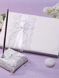 cheap -Guest Book Pen Set Lace Garden Theme With Sash Rhinestones Wedding Ceremony